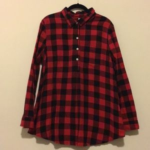 OLD NAVY buffalo check maternity shirt